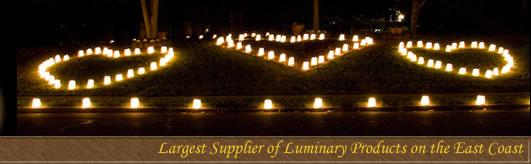 Illuminations Nc Heart Shaped Luminaries Covering A Hillside
